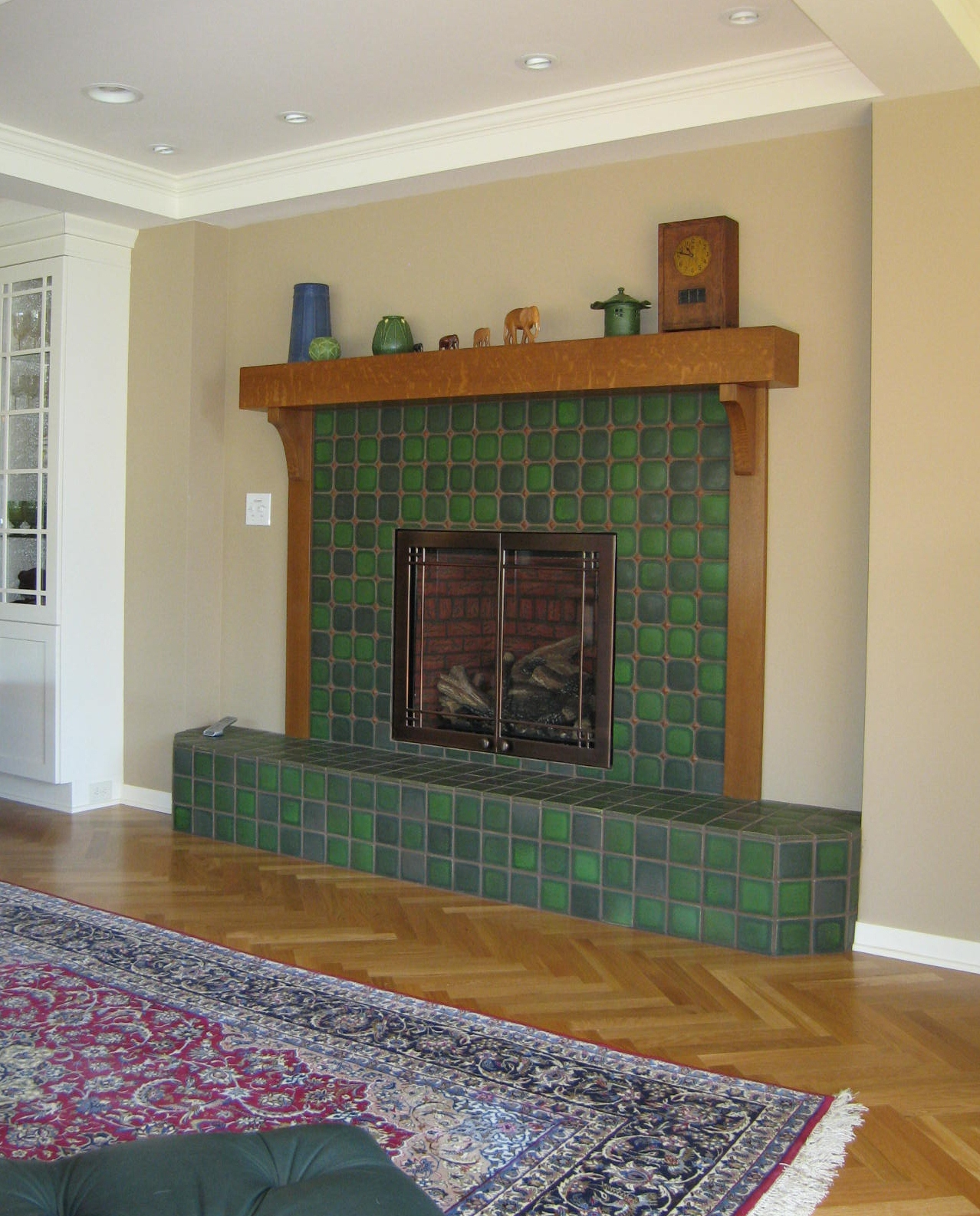 install tile fireplace surround round designs