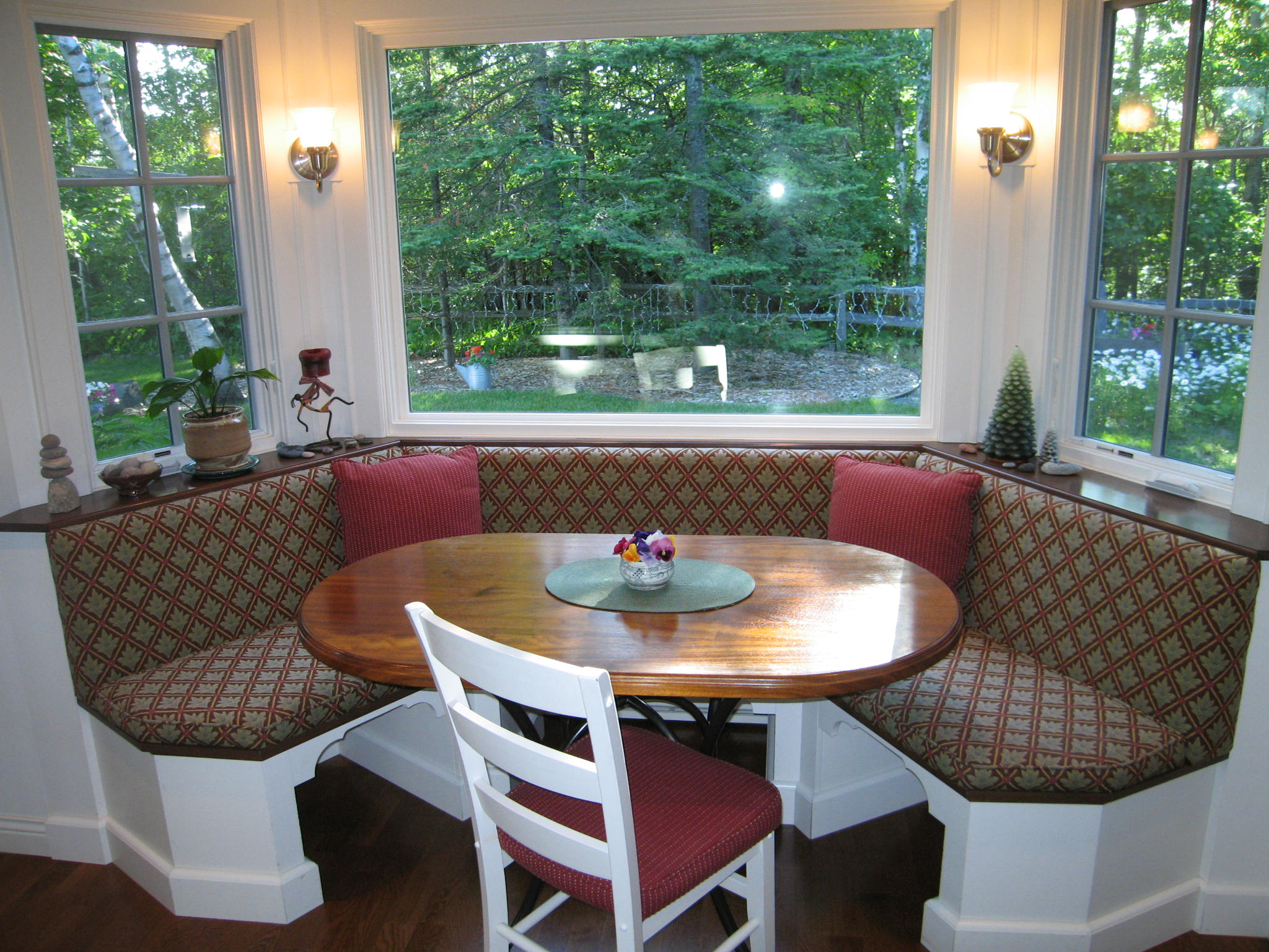 Banquette seating maximize family togetherness in the kitchen